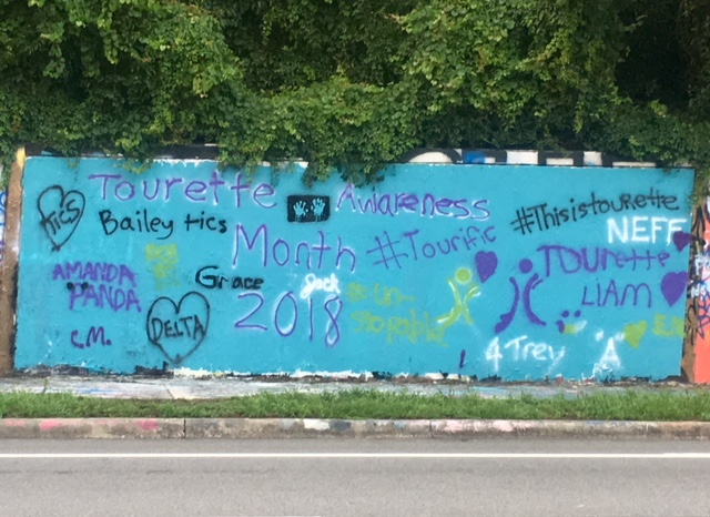 Photo: Tourette Awareness Month Graffiti Wall