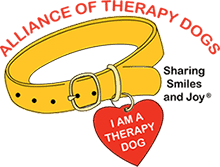Alliance of therapy dogs logo