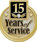 Photo 15 year service pin