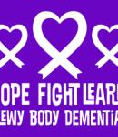 Hope Fight Learn - Lewy Body Dementia awarenss logo