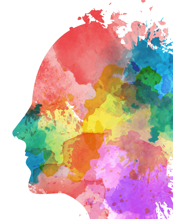 colorful head