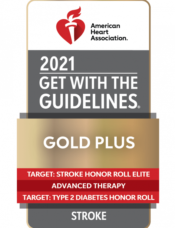 gold plus rating by the american heart association